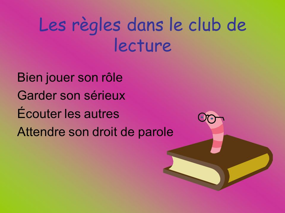 Club de lecture AnimateurCinéaste Meilleur ami Maître des mots Petit curieux Maître de lair Commission scolaire des Sommets 2010