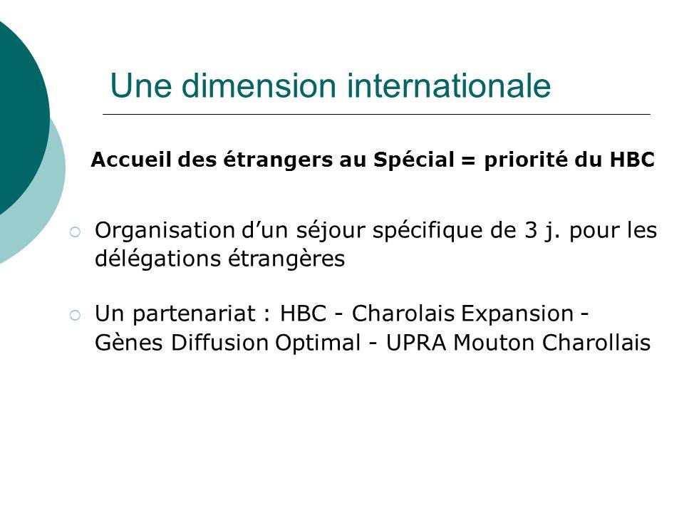 Une dimension internationale Accueil des étrangers au Spécial = priorité du HBC Organisation dun séjour spécifique de 3 j. pour les délégations étrang