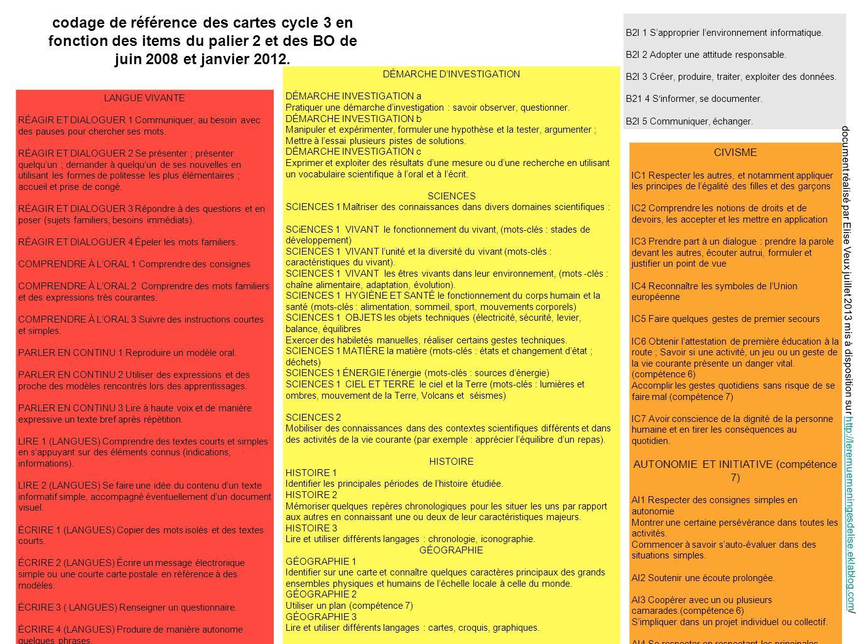 35 PALIER 2 cartes pour construire les unités dapprentissage (source BO janvier 2012) SCIENCES 1 MATIÈRE la matière (mots-clés : états et changement détat ; déchets) Environnement et développement durable EDD Mobiliser ses connaissances pour comprendre quelques questions liées à lenvironnement et au développement durable et agir en conséquence (mots-clés : déchets, recycle).