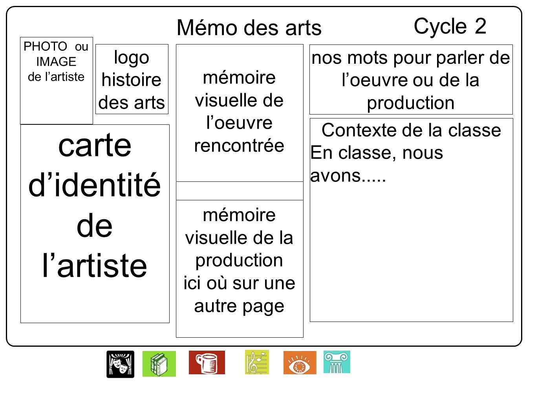 logo histoire des arts PHOTO ou IMAGE de lartiste carte didentité de lartiste mémoire visuelle de loeuvre rencontrée nos mots pour parler de loeuvre o