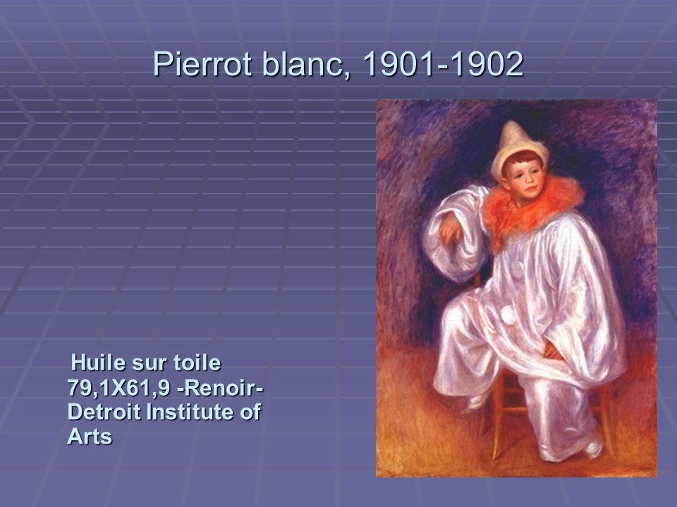 Pierrot blanc, 1901-1902 Huile sur toile 79,1X61,9 -Renoir- Detroit Institute of Arts Huile sur toile 79,1X61,9 -Renoir- Detroit Institute of Arts