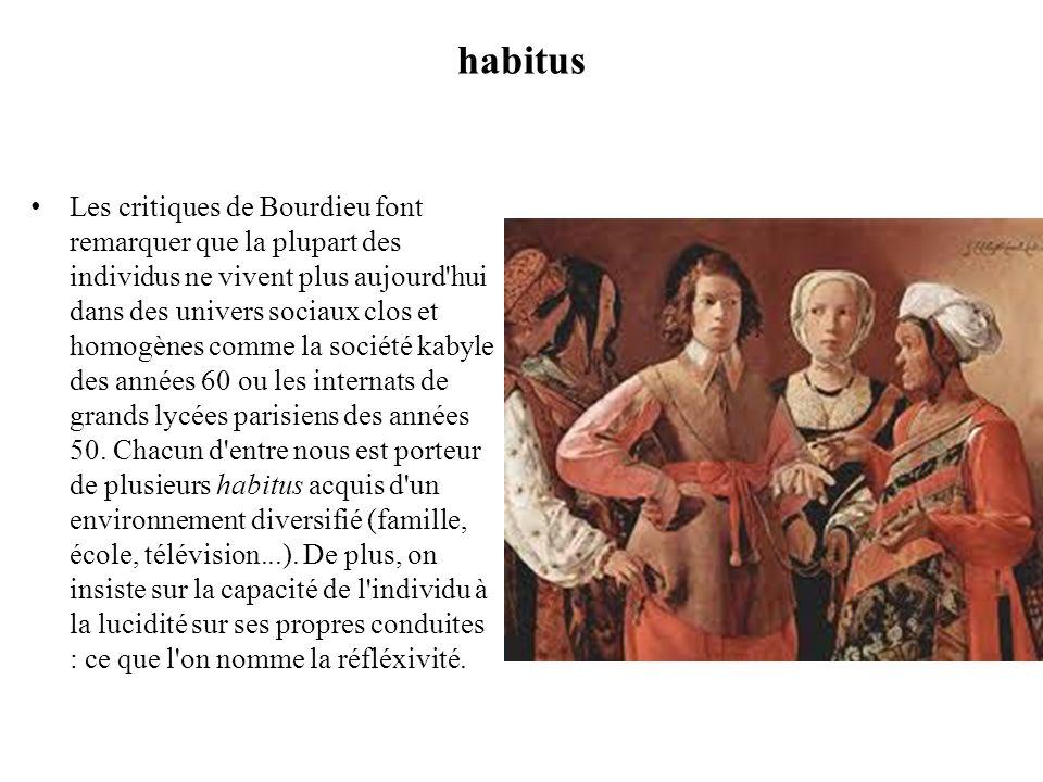 Habitus -hysterisis Le concept dhabitus permet de comprendre de quelle manière lhomme devient un être social.