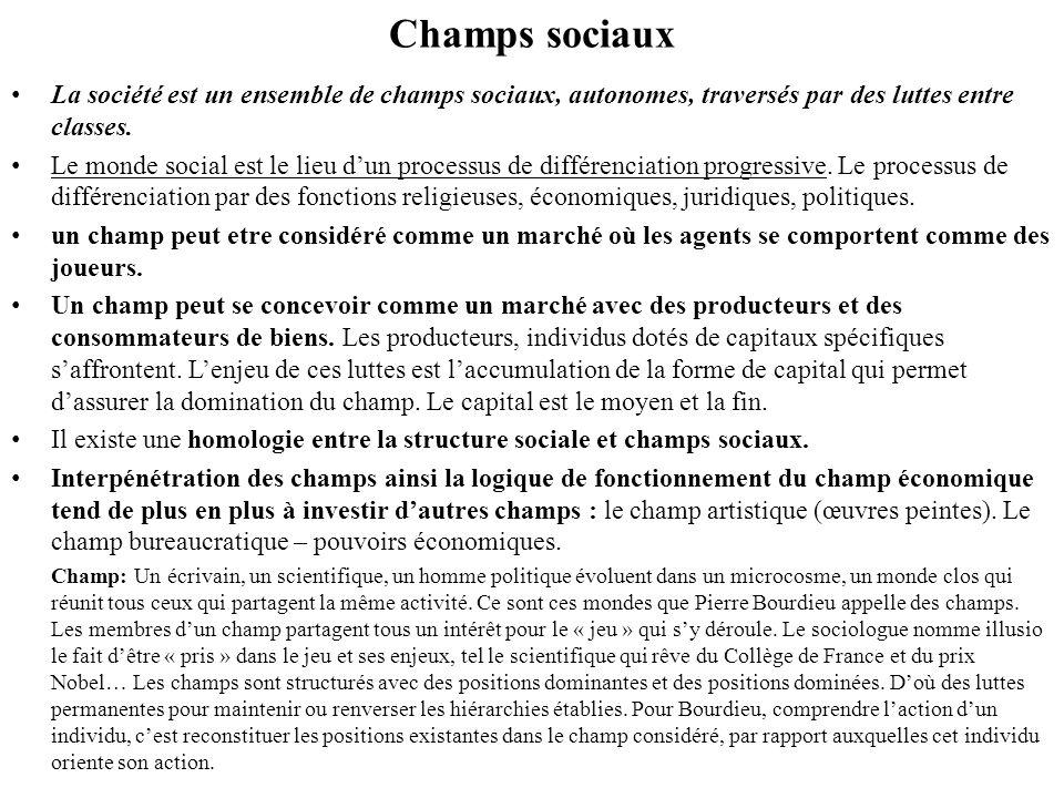 Champ économique Champ économique : dans les sociétés traditionnelles la production et léchange sont fondamentalement des activités sociales.