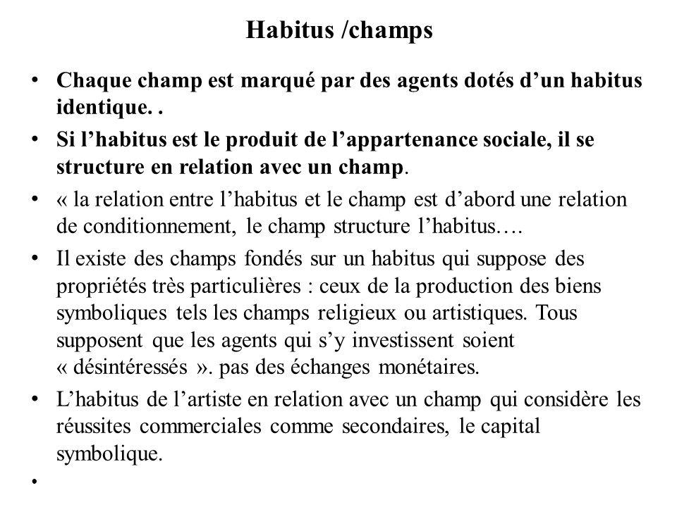 habitus 2.Lhabitus assure la régulation sociale - Un puissant facteur de reproduction sociale.