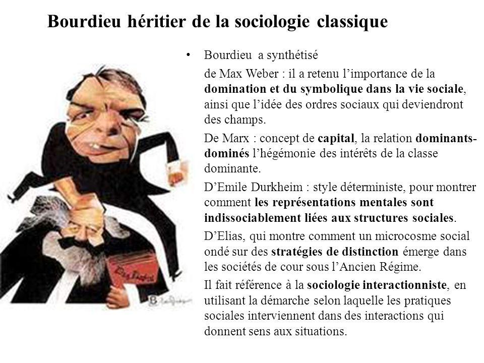 Sociologie libératrice Pierre Bourdieu milite pour une sociologie « libératrice » -Sociologie, étant une science non normative, elle doit permettre le dévoilement des stratégies de domination.