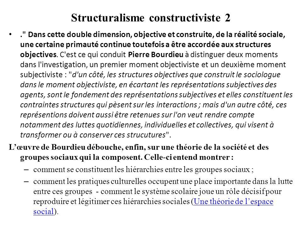 Espace social Lespace social : est hiérarchisé par linégale distribution des capitaux.