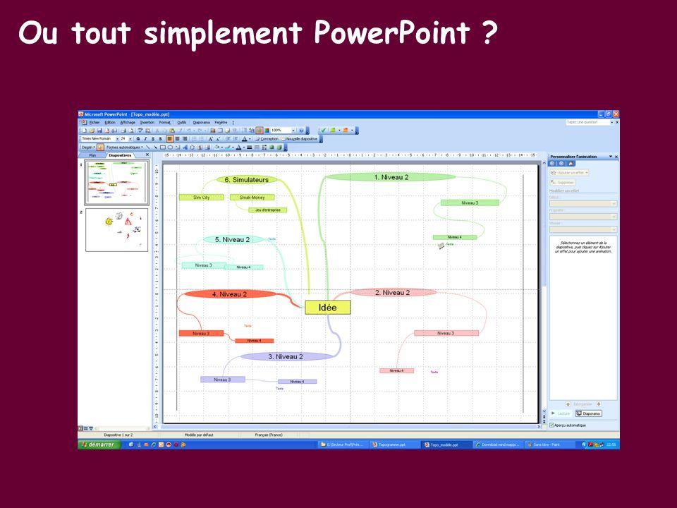 Ou tout simplement PowerPoint ?