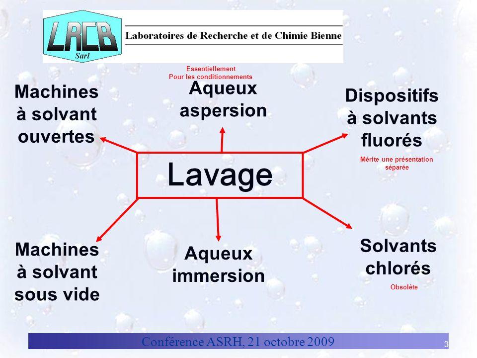 Conférence ASRH, 21 octobre 2009 4 Solvants: définitions Point débullition Température à laquelle le liquide bout à pression normale.
