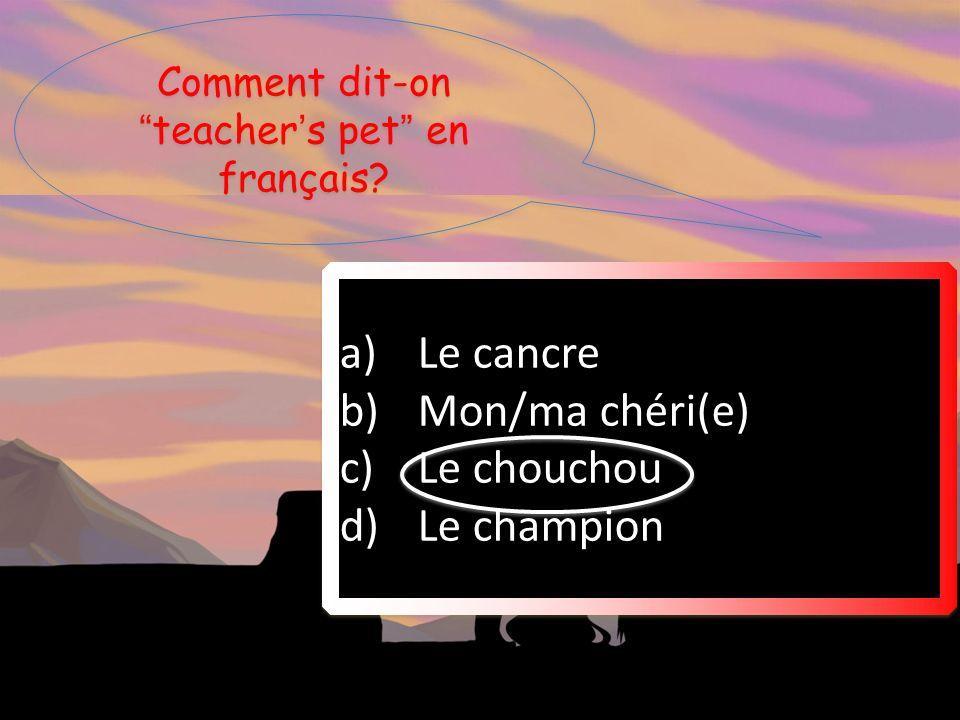 Qui ne parle pas français.