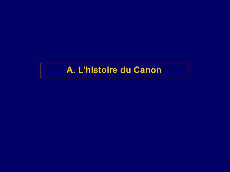 A. Lhistoire du Canon