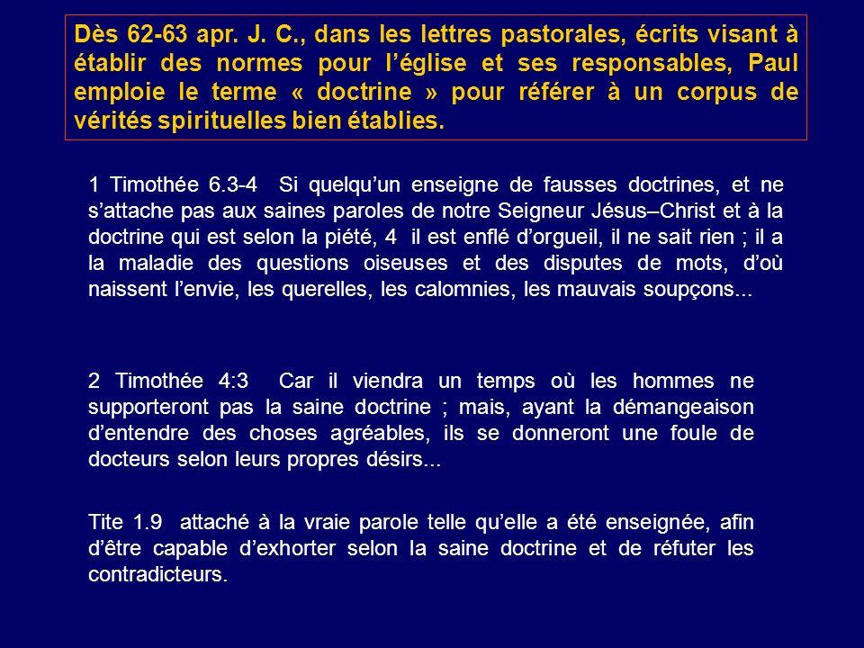 2 Timothée 4:3 Car il viendra un temps où les hommes ne supporteront pas la saine doctrine ; mais, ayant la démangeaison dentendre des choses agréable