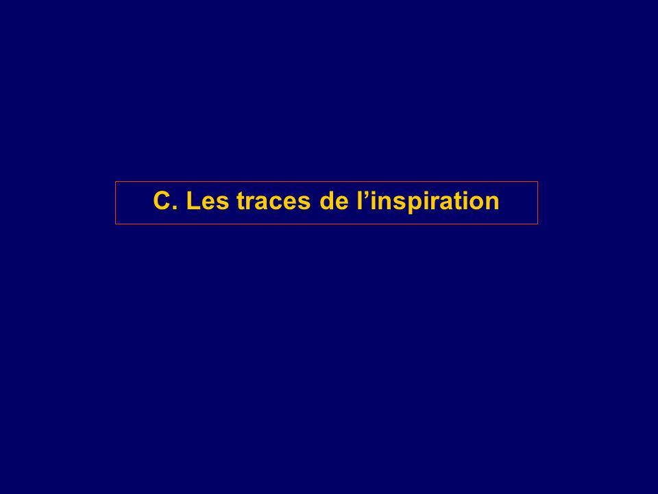 C. Les traces de linspiration