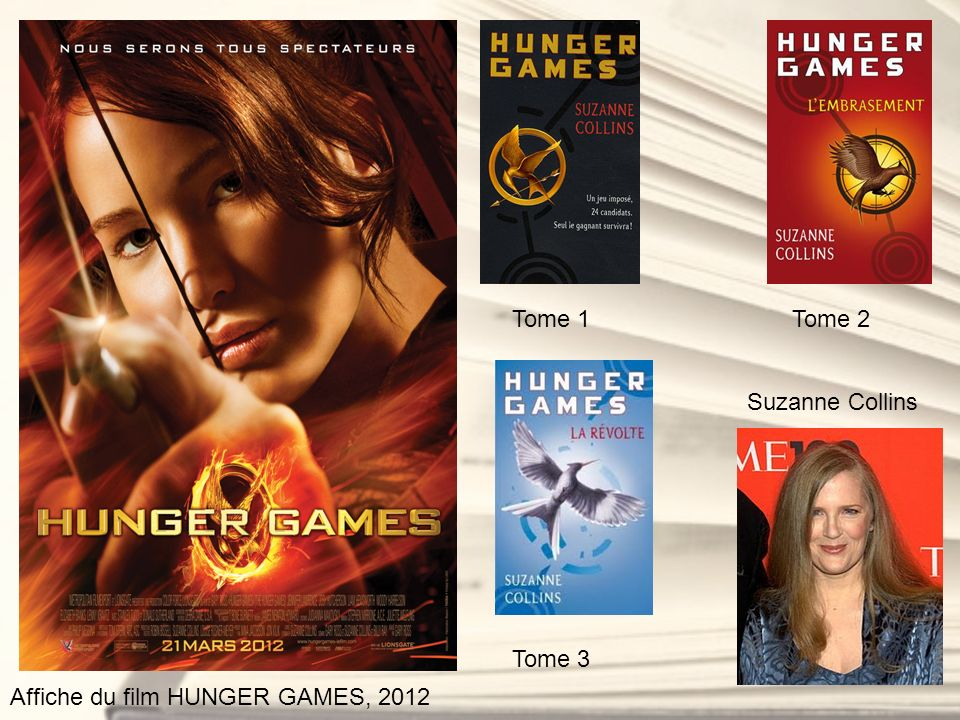 Affiche du film HUNGER GAMES, 2012 Tome 1Tome 2 Tome 3 Suzanne Collins