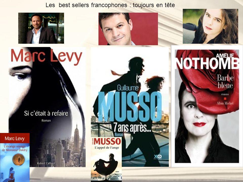 Les best sellers francophones : toujours en tête