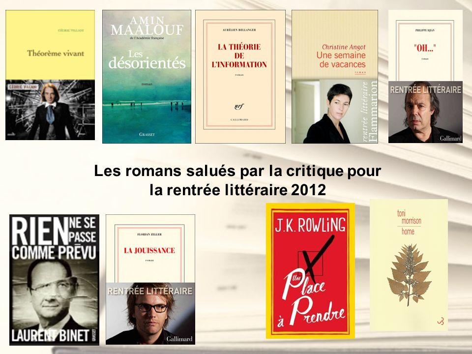 Les romans salués par la critique pour la rentrée littéraire 2012