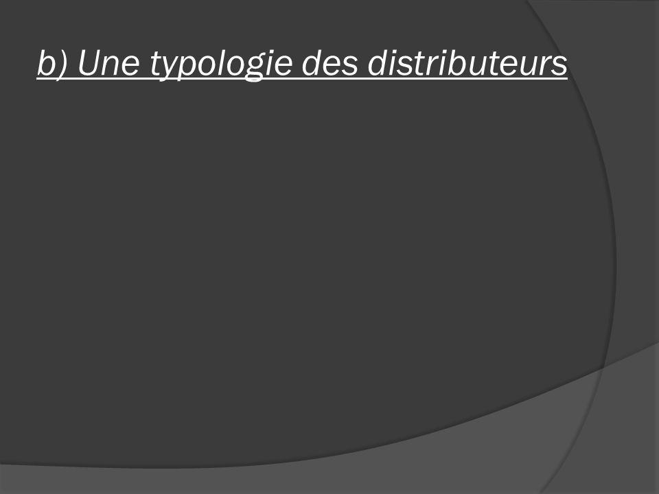b) Une typologie des distributeurs