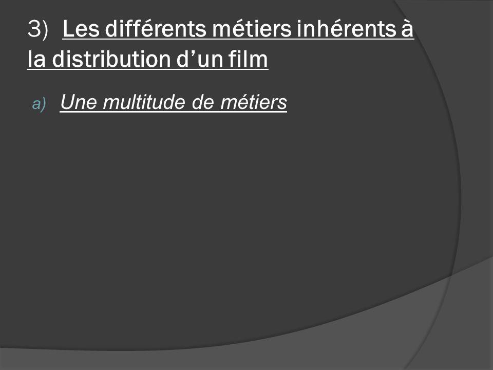 3) Les différents métiers inhérents à la distribution dun film a) Une multitude de métiers