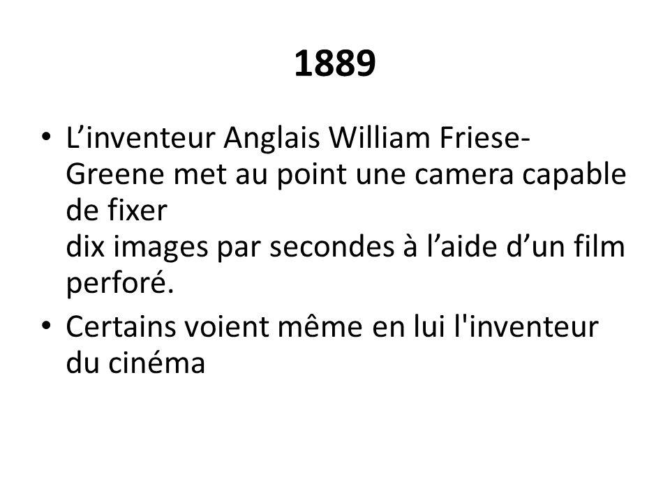 1890-1927 Les films qui sont produits jusqu en 1927 sont dépourvus de son.