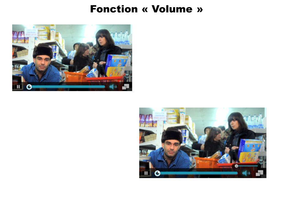 Fonction « Volume »