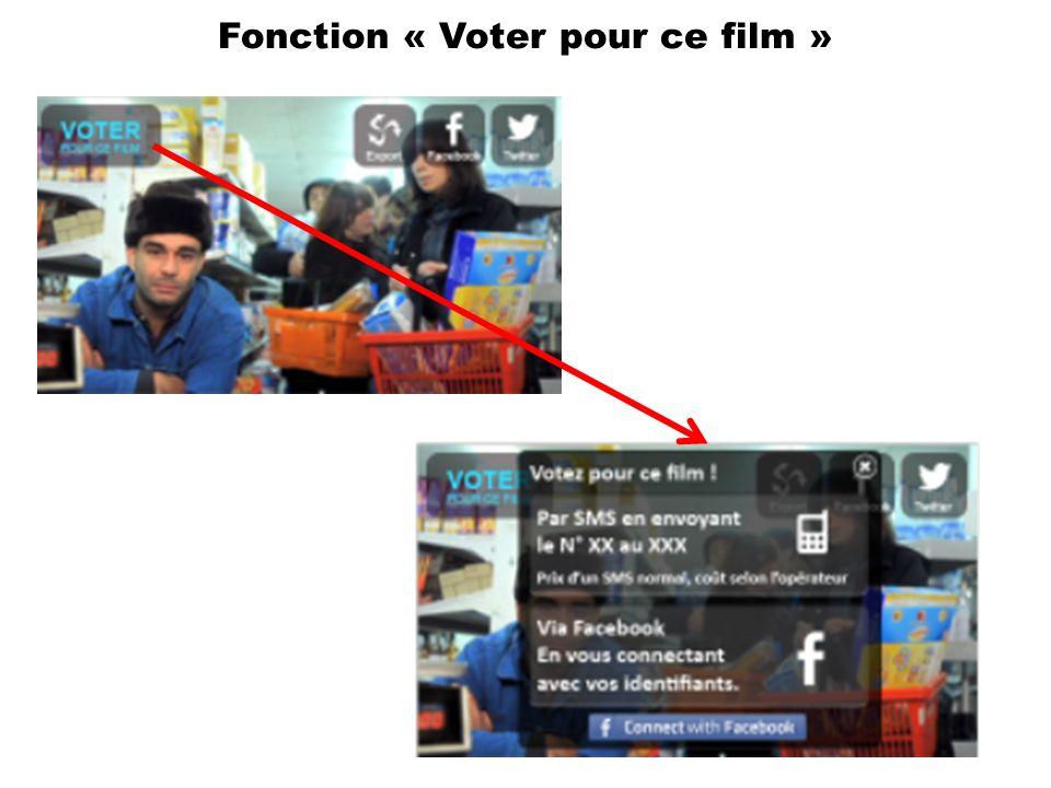 Fonction « Voter pour ce film »