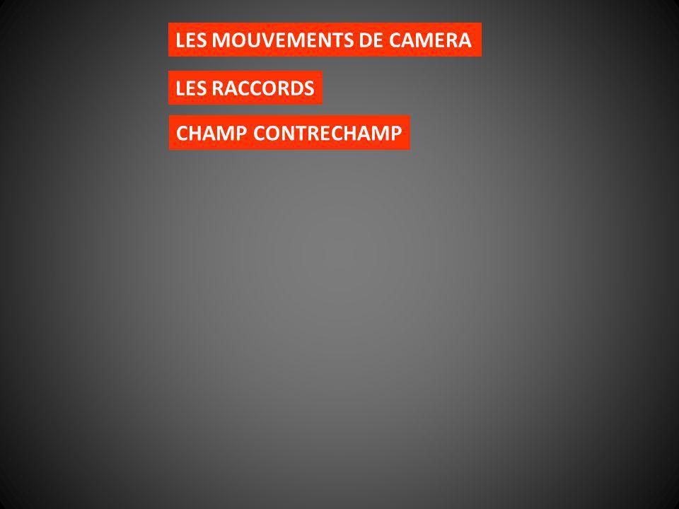 LES MOUVEMENTS DE CAMERA LES RACCORDS CHAMP CONTRECHAMP