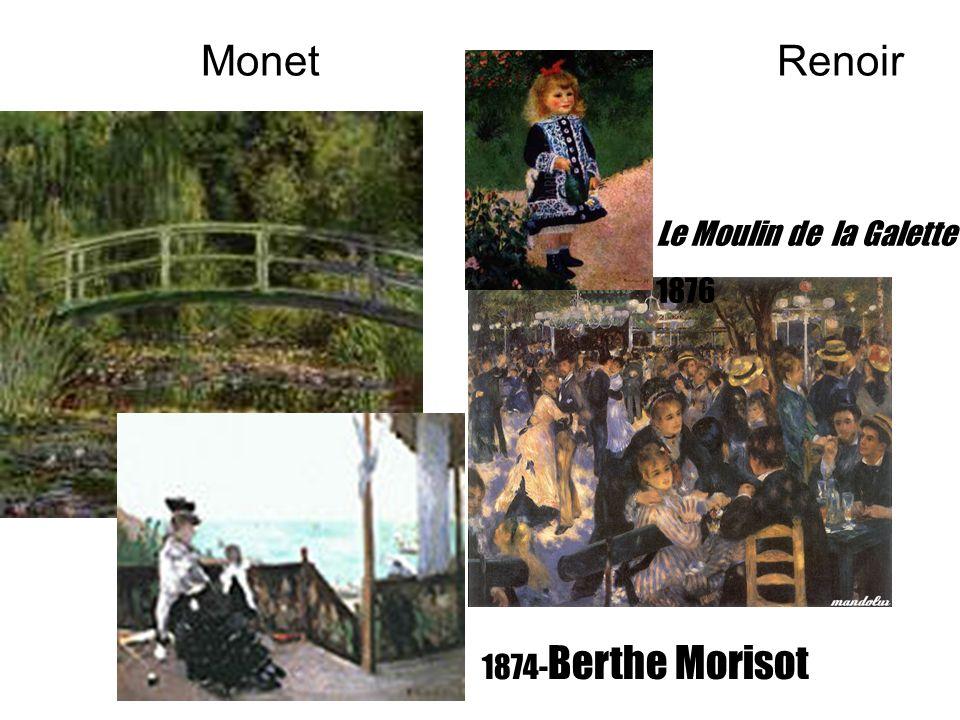 Monet Renoir 1874- Berthe Morisot Le Moulin de la Galette 1876
