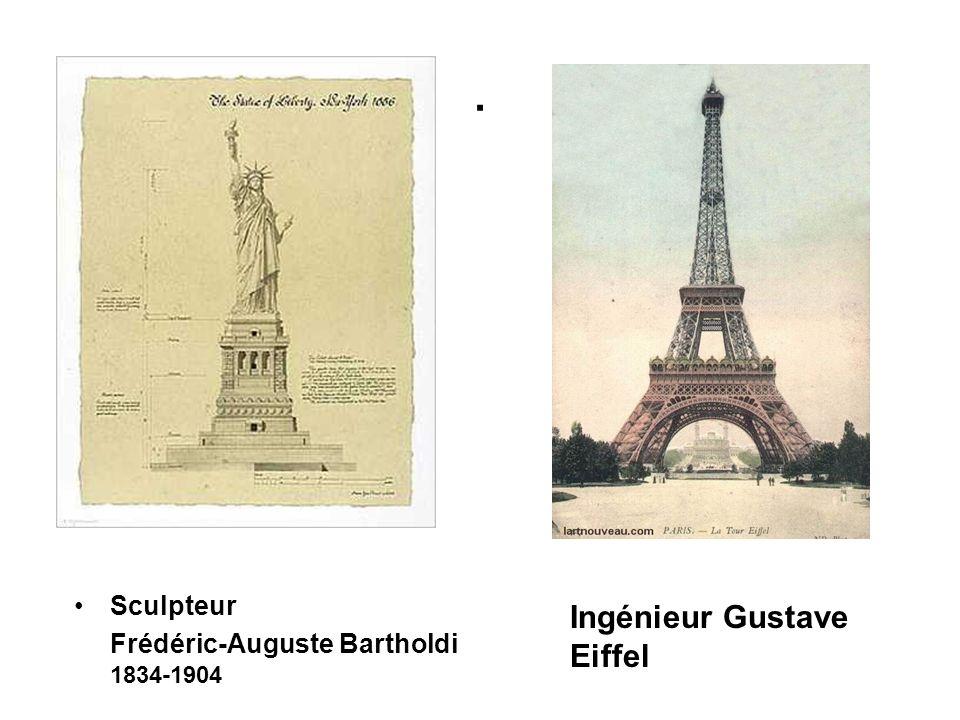 . Sculpteur Frédéric-Auguste Bartholdi 1834-1904 Ingénieur Gustave Eiffel