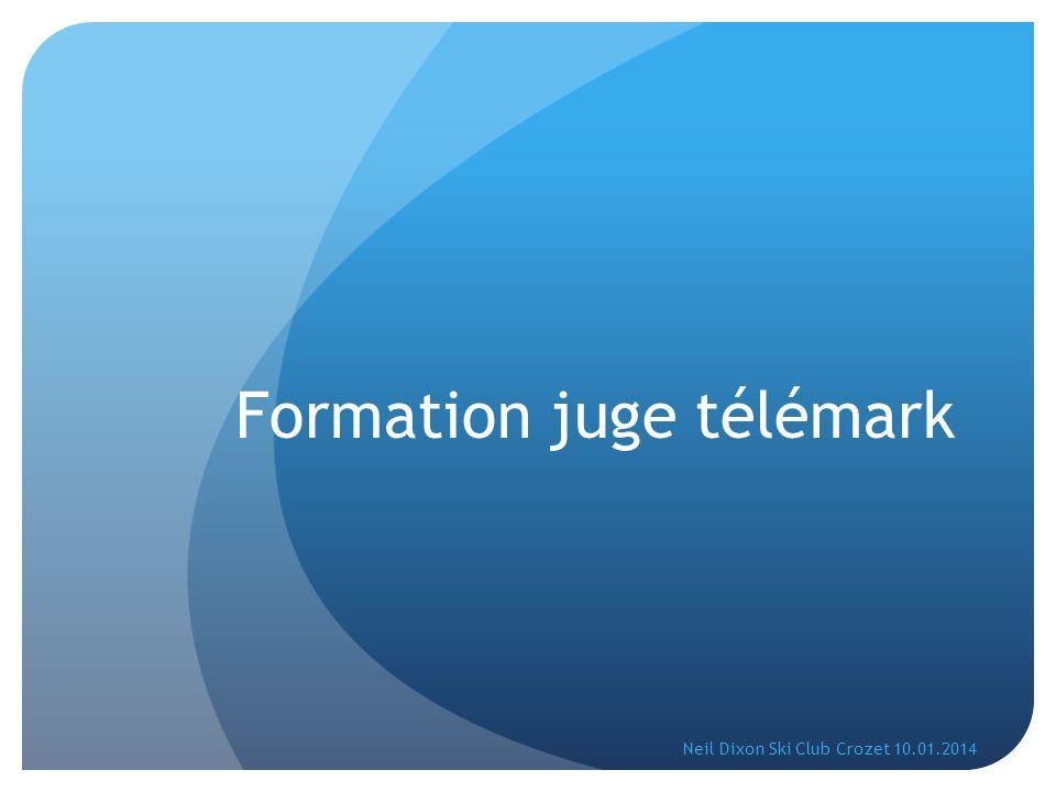 Fédération.Le télémark (film). Le juge. Zone de contrôle.