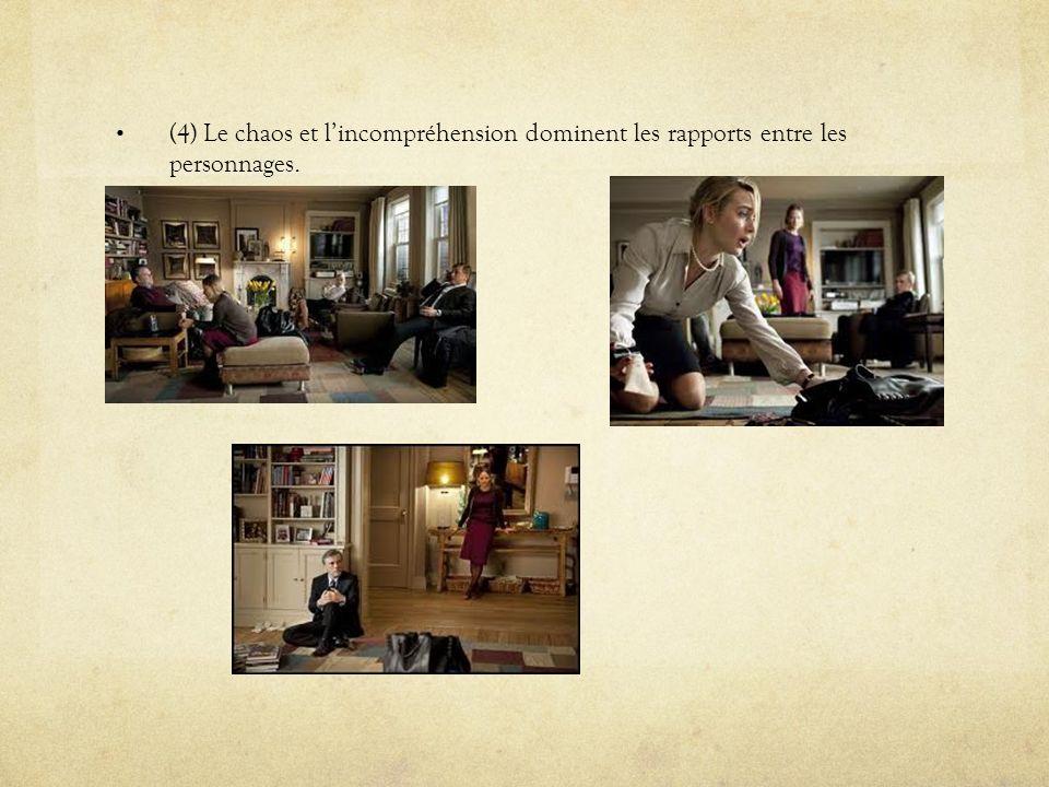 (4) Le chaos et lincompréhension dominent les rapports entre les personnages.