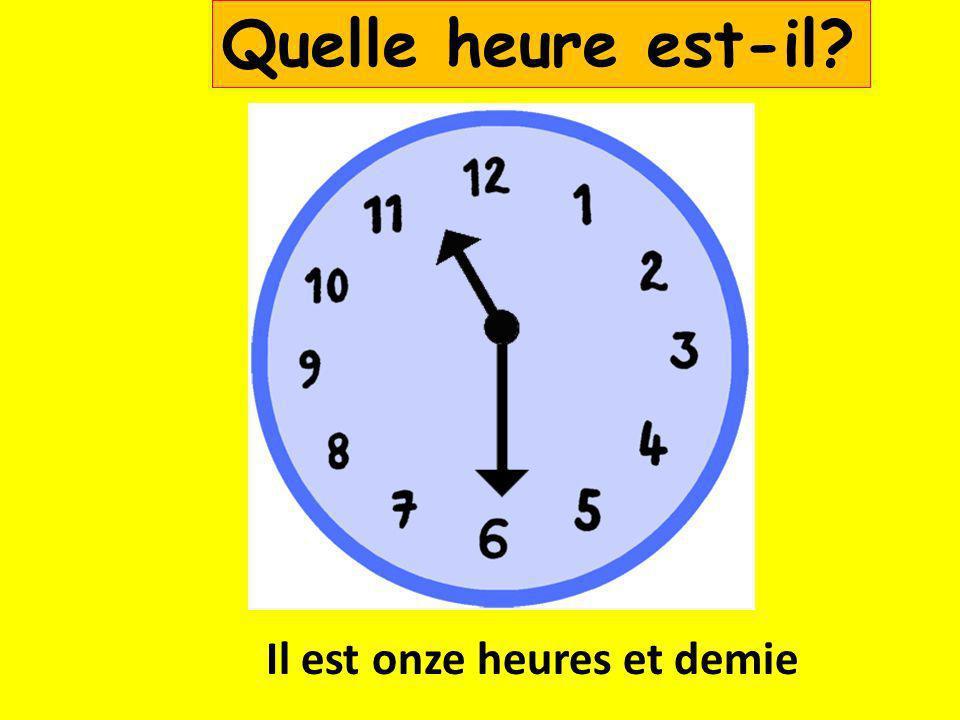 Il est une heure et demie Quelle heure est-il