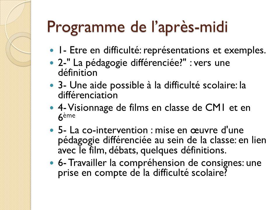 La co-intervention Mise en œuvre dune pédagogie différenciée au sein de la classe.