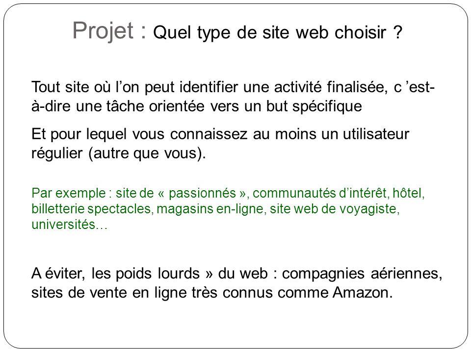 Projet : Quel type de site web choisir .