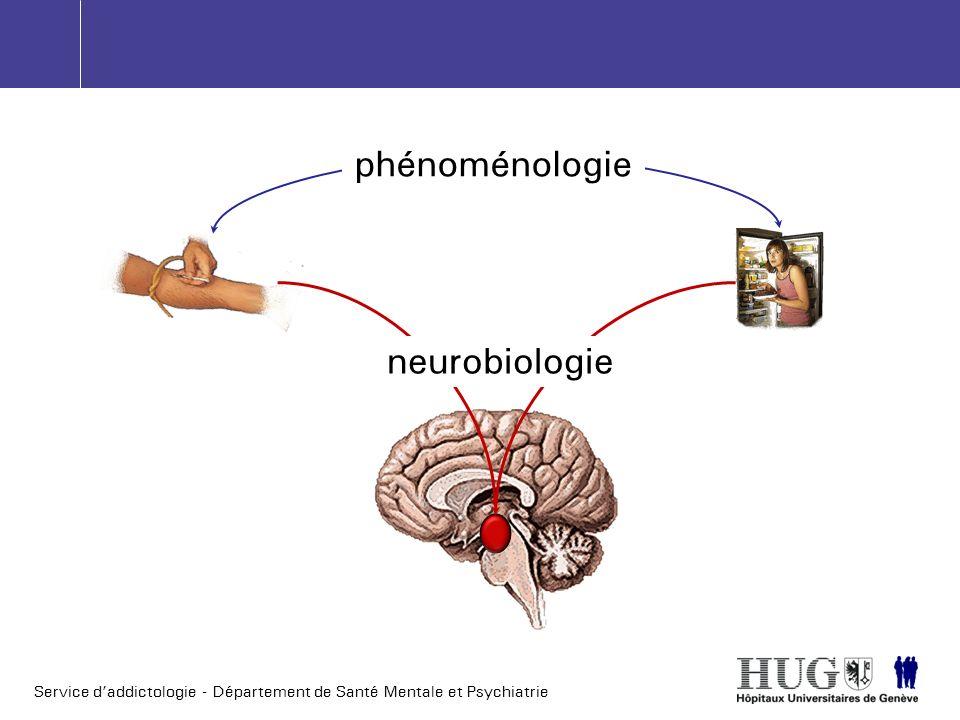 Service daddictologie - Département de Santé Mentale et Psychiatrie phénoménologie neurobiologie