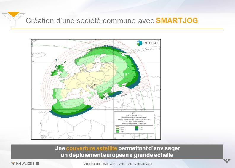 Oddo Midcap Forum 2014 – Lyon – 9 et 10 janvier 2014 24 Une couverture satellite permettant denvisager un déploiement européen à grande échelle Création dune société commune avec SMARTJOG