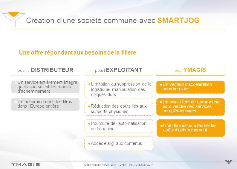 Oddo Midcap Forum 2014 – Lyon – 9 et 10 janvier 2014 26 pour le DISTRIBUTEUR Un service entièrement intégré quels que soient les modes dacheminement U