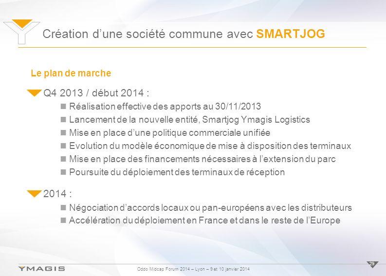 Oddo Midcap Forum 2014 – Lyon – 9 et 10 janvier 2014 29 Q4 2013 / début 2014 : Réalisation effective des apports au 30/11/2013 Lancement de la nouvell
