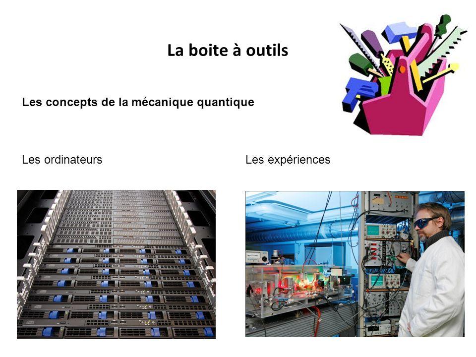 La boite à outils Les concepts de la mécanique quantique Les ordinateurs Les expériences