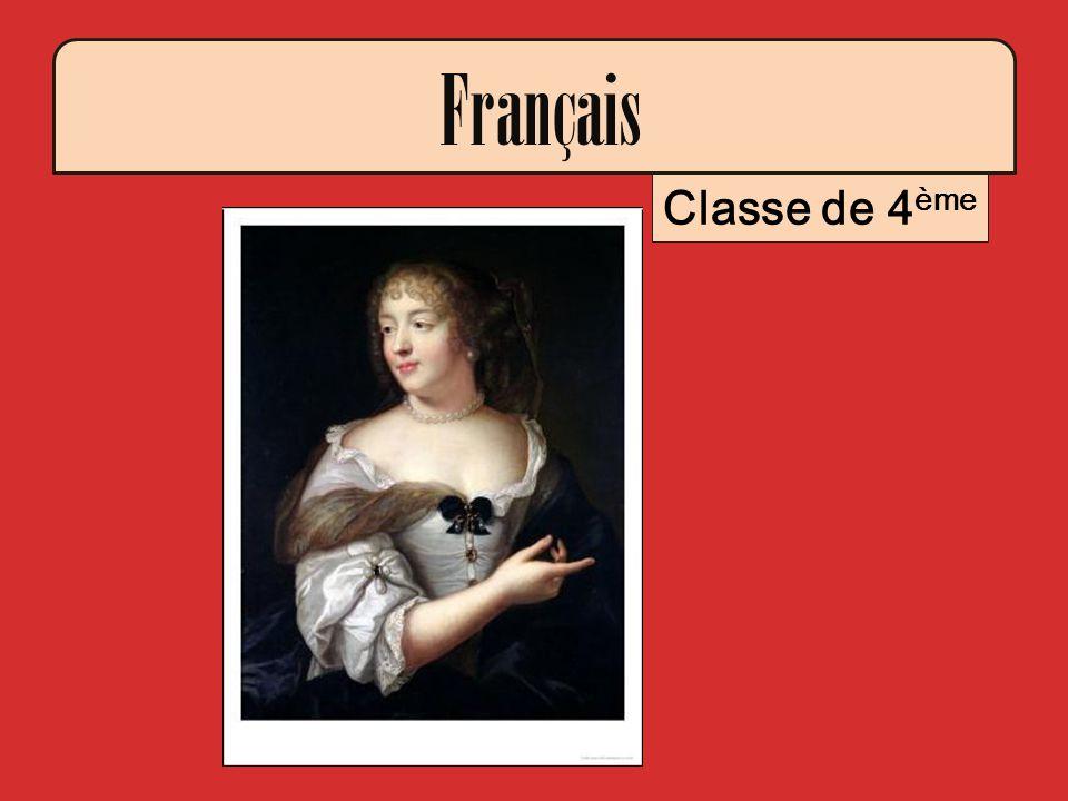 Français Classe de 4 ème