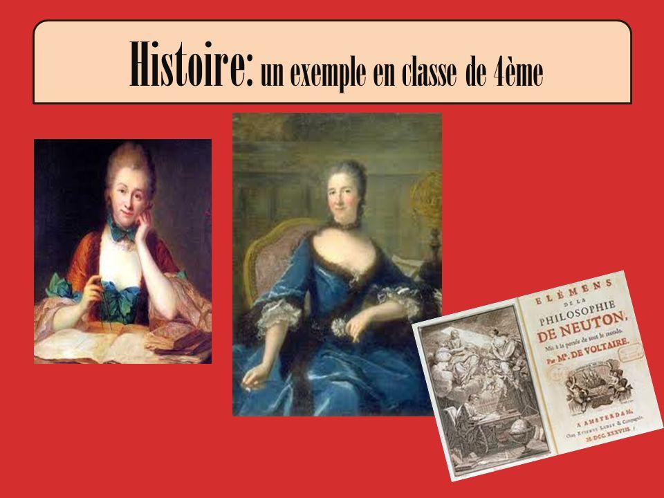 Histoire: un exemple en classe de 4ème