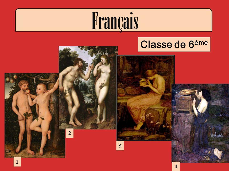 Français Classe de 6 ème 1 3 2 4