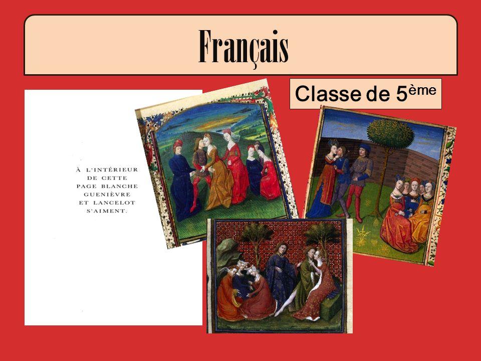 Classe de 5 ème Français