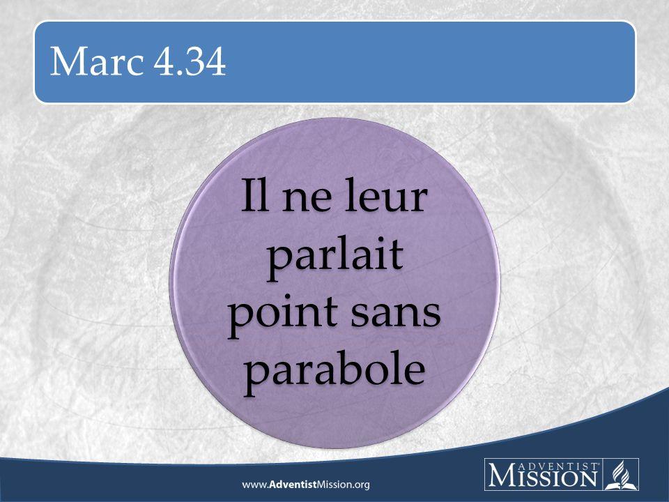 Marc 4.34 Il ne leur parlait point sans parabole