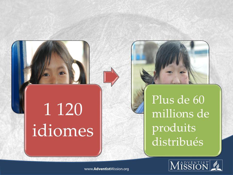 1 120 idiomes Plus de 60 millions de produits distribués