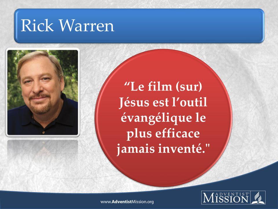 Rick Warren Le film (sur) Jésus est loutil évangélique le plus efficace jamais inventé.
