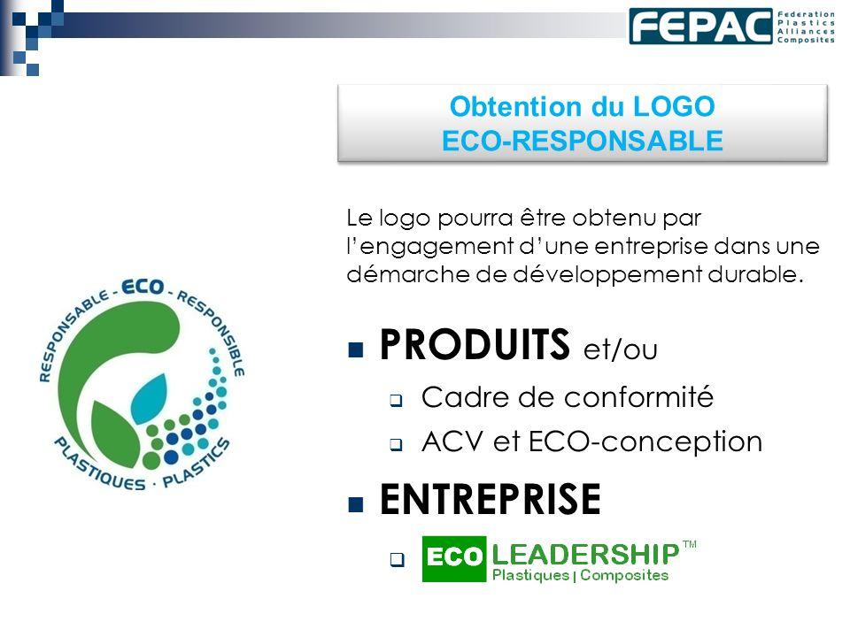 Obtention du LOGO ECO-RESPONSABLE Le logo pourra être obtenu par lengagement dune entreprise dans une démarche de développement durable.