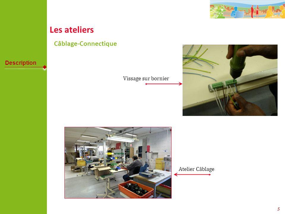 6 Les ateliers Conditionnement Atelier Conditionnement Mise sous film plastique de « carnet de santé » Description Nos sites