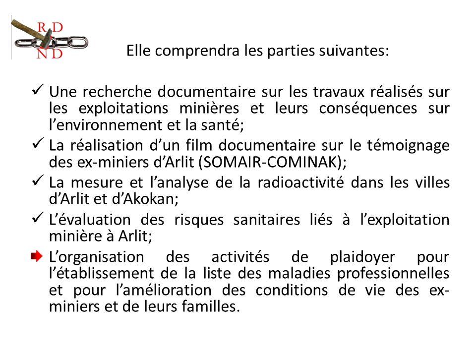 Elle comprendra les parties suivantes: Une recherche documentaire sur les travaux réalisés sur les exploitations minières et leurs conséquences sur le