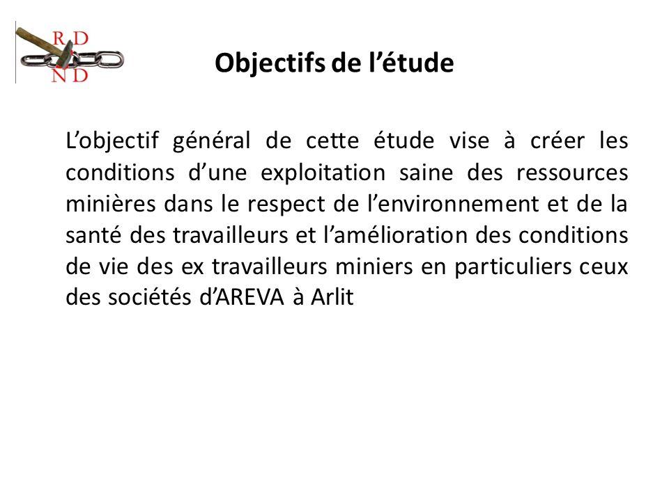 Objectifs de létude Lobjectif général de cette étude vise à créer les conditions dune exploitation saine des ressources minières dans le respect de le