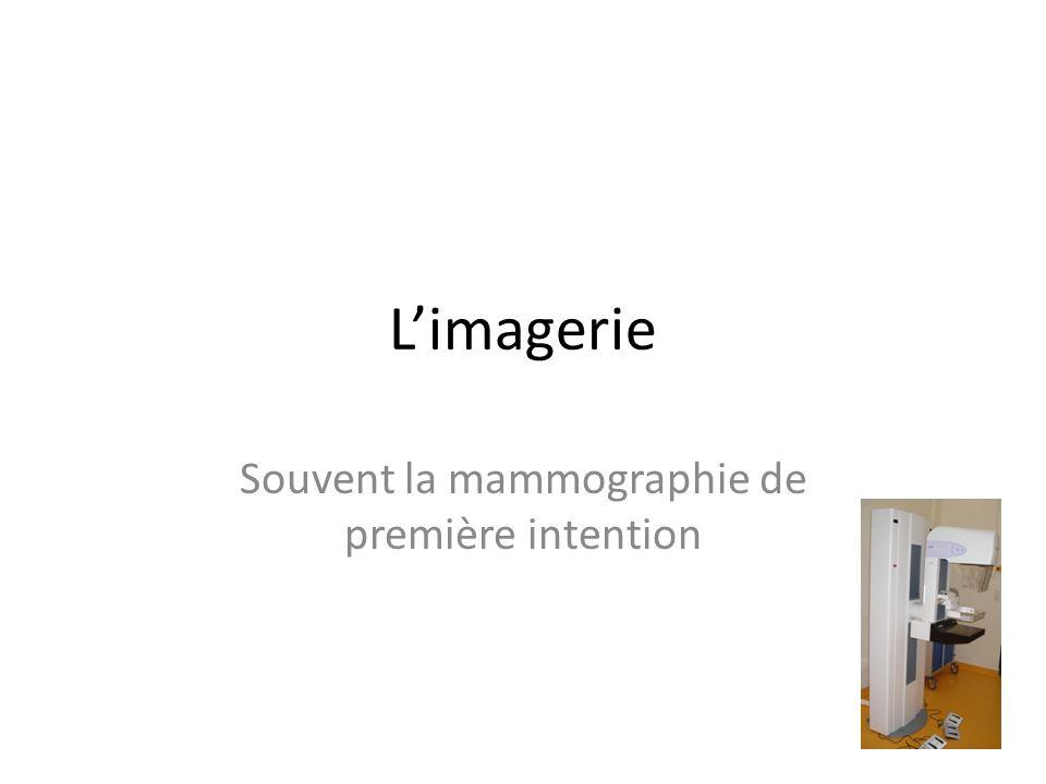 Limagerie Souvent la mammographie de première intention