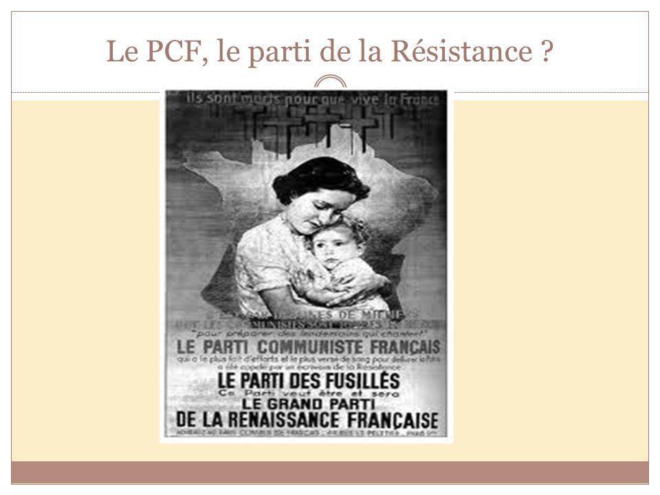 Le PCF, le parti de la Résistance ?